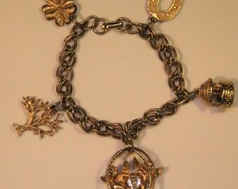 Vintage Coro Spring Charm Bracelet