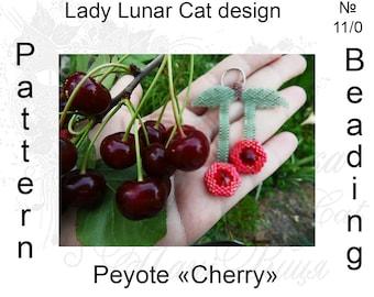 Cherry peyote pattern, Hexagon peyote pattern, Summer berries peyote, Fruit peyote, Summer patterns, Peyote stitch, Beading patterns