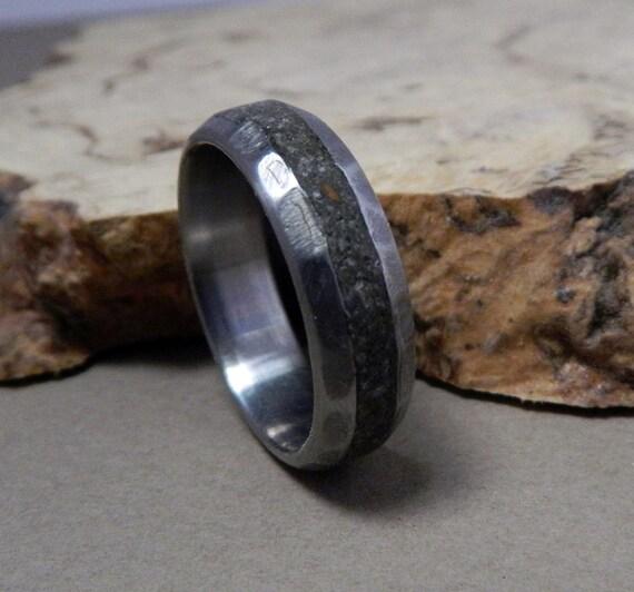 Titanium Ring Concrete Ring Wedding Ring Wedding Band