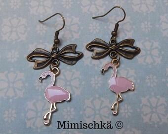 earrings flamingo pin up rockabilly cute