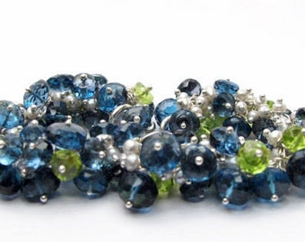 London Blue Topaz and Peridot Bracelet