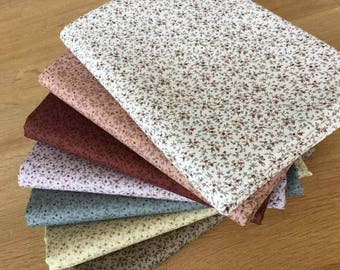 MINI BERRIES Fat Quarter Bundle 100% craft cotton Blenders Autumn Berry
