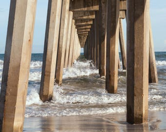 Pier Pensacola Beach Photography, Florida Pensacola Beach Pier waves photo, Gulf of Mexico waves at the Pier picture