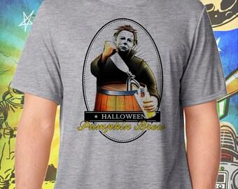 Halloween / Michael Myers / Pumpkin Brew / Men's Gray Performance T-Shirt