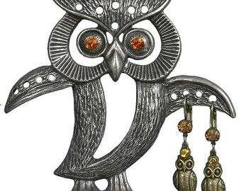 Owl Earring Tree