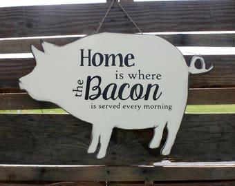 Farmhouse Sign - Farmhouse Piglet Sign - Farmhouse Decor - Farmhouse Piglet Decor - Wood Farmhouse Sign - Wood Farmhouse Decor - Birthday