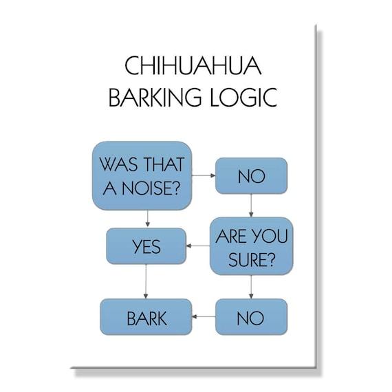 Chihuahua Barking Logic Funny Fridge Magnet