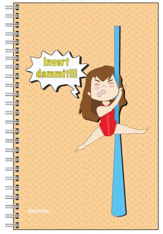 aerial silk notebook, fitness journal, circus notebook, aerial problems, suspension, circus gift, fitness tracker, fitness planner, circus