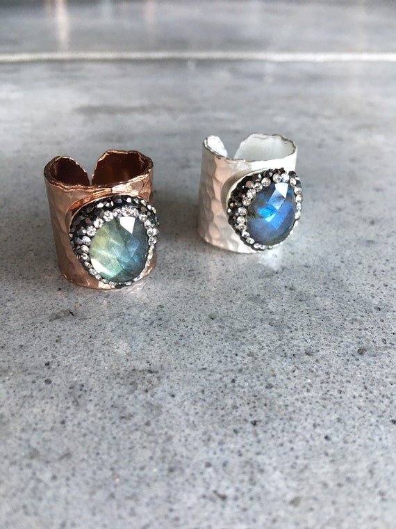 Labradorite Statement rings