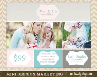 Mothers Day Mini Session Marketing Template for Photographers INSTANT DOWNLOAD
