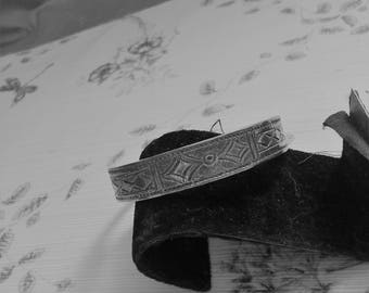 Heavy Bracelet with Engravings on Inside and Out