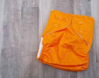 Orange Pocket Cloth Diaper Set