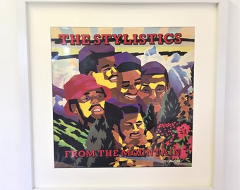 Vintage Original Album Artwork Framed Wall Art The Stylistics From The Mountain 1974