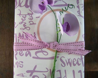 DIY Paper Sweet Pea Pattern and Instructions PDF SVG