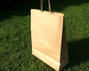 Large kraft carrier bags x 10