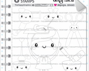 Salon Stamps 80OFF Commercial Use Digi Stamp Digital Image Digistamp Kawaii Spa Hair Color