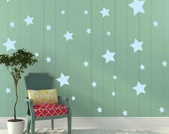 FREE SHIPPING Wall Decal  Stars Color Pastel Blue, Each Kit 150 Stars. Wall Sticker. Homedecor.Nursery Wall Art.Housewares