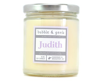Judith Scented Soy Candle - baby, floral, clean