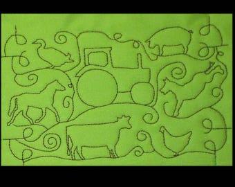 In Hoop Full Hoop Farm Animal Stipple