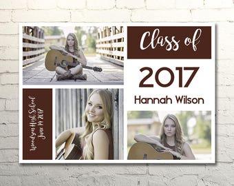 Color Block Graduation Card