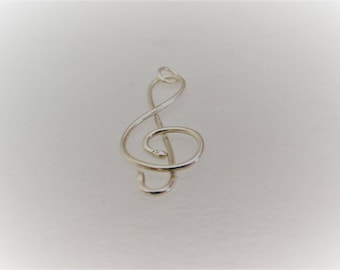 Trebble clef with a 16 inches chain