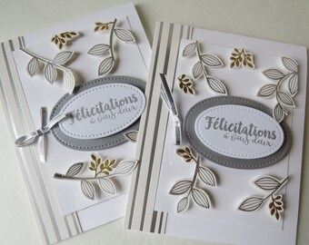 "Wedding card ""Shinny leaves"""