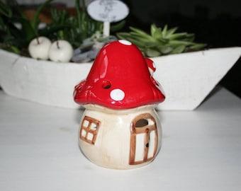Light, mushroom lantern, fly mushroom, red mushroom