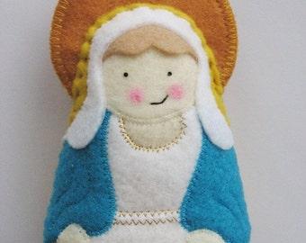 Our Lady of Grace Felt Saint Softie