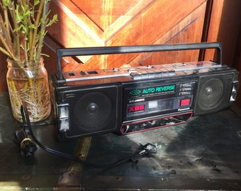 1980s Panasonic stereo cassette recorder boombox TESTED