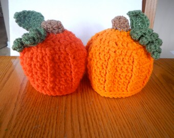 Pumpkin crochet beanie hat….custom size