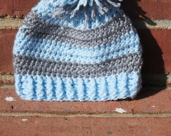 Baby~Hat~0~to~3~months~Blue~Grey