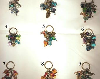 Key ring Charms, Key Chain, Bag Charms, Keyring, Keychain, Bag accessory, key fob charms,Keyring Charms, Purse charms