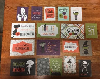 Echo Park HALLOWEEN TOWN  project life cards - set of 18