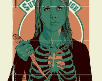 SUNNYDALE HIGH #34 (Buffy the Vampire Slayer) - Hand Pulled Screen Print