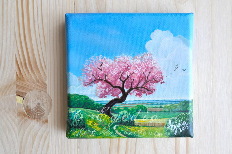 Beautiful fiori dipinti ad olio gallery acrylicgiftware for Fiori di ciliegio dipinti