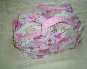 toiletry bag - cotton suitcase 'Lady of Paris' size L