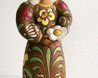 Vintage Mid Century Figural Woman Ceramic Sculpture Webton Ware Brayton Laguna Pottery