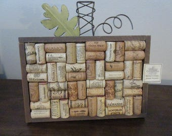 Wine Cork Memo Board, with metal decorative trim