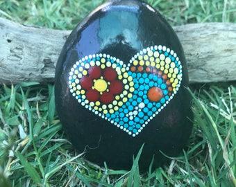 Handmade MANDALA/MEDITA love stone