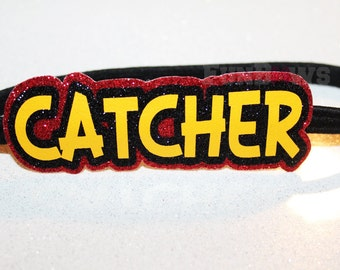 Glitter Softball Catcher Headband by FunBows !