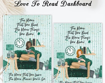 Love to Read   Travelers notebook Dashboard   Skin Tone Options Available