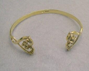 Dainty Sterling Vermeil English Cuff Bracelet
