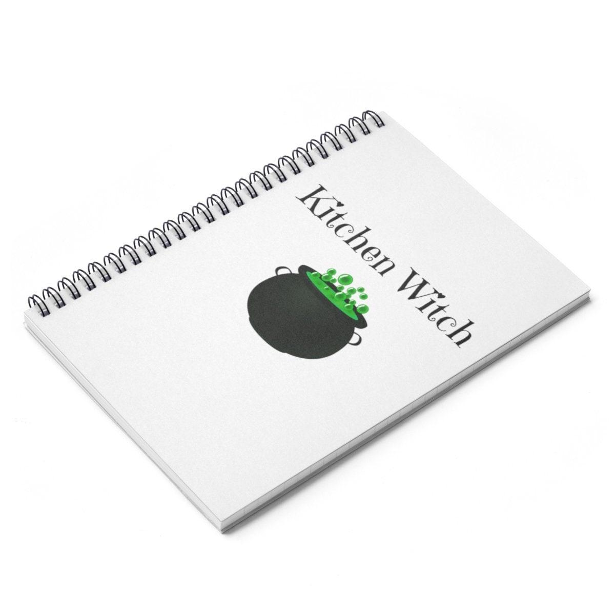 Spaß Küche-Hexe-Rezept-Buch für Köche-Spiral-Notizbuch liniert