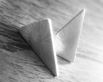 Larger triangle Stud earrings