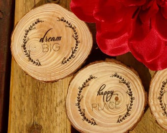 Wood Coasters. Original gifts. Modern Coasters. Original Coasters. Wood-slice coasters. Housewarming gift.