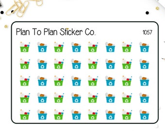 1057~~ Recycle Day Planner Stickers.