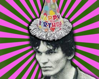 Richard Ramirez birthday card Night Stalker serial killer true crime goth scary