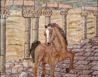 Charming Horse Marble Mosaic