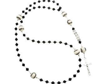 Baseball Rosary Beads with Personalized Name