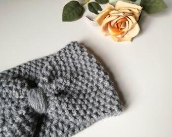 Wool hair Band, women's wool headband, twist headband, wool turban Band, turbans, grey wool headband, turban hair Band